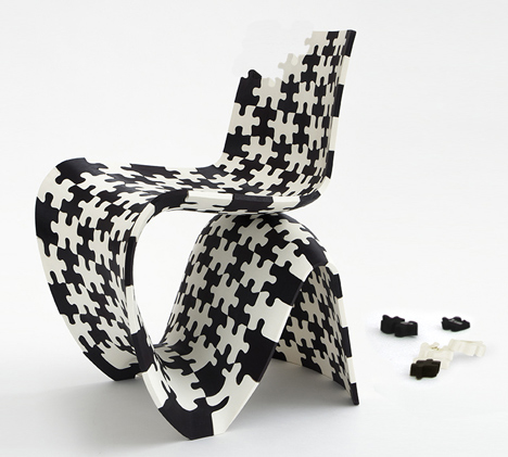 Joris Laarman Lab 3D printed puzzle chair