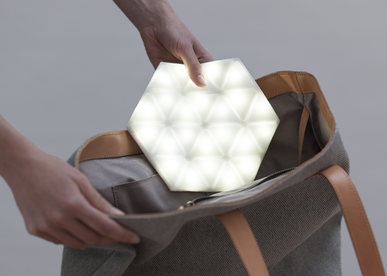 Kawamura Ganjavian designs Kangaroo Light for the bottom of your bag