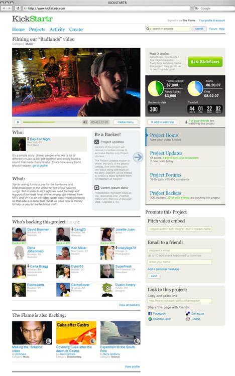 Kickstarter original site
