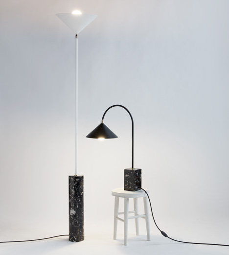 Aspect lamps by Moving Mountains