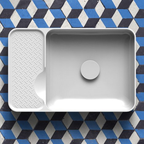 SaphirKeramik basin by Konstantin Grcic for Laufen