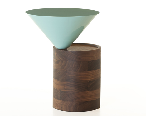 Laurel Side Table by Luca Nichetto in walnut