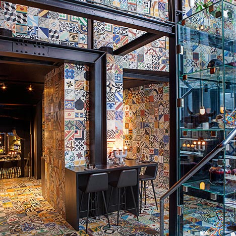 BIG and Kilo Design transform Copenhagen basement into tiled South American restaurant