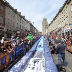 Luke Jerram transforms Bristol's Park Street into 90 metre water slide