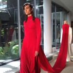 Marta Jakubowski connects RCA fashion collection with fabric trains