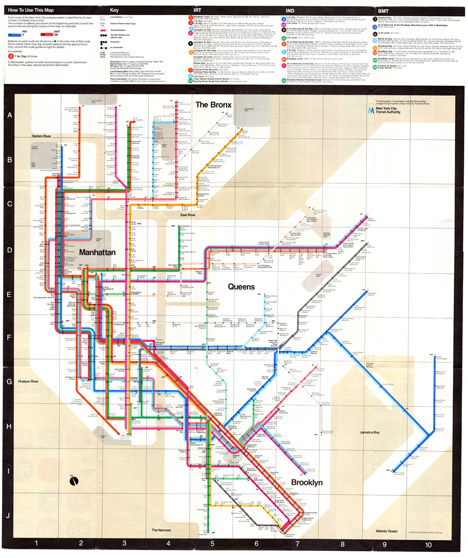 Massimo Vignelli Manhattan Subway