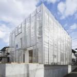 Metal mesh shrouds Fumihiko Sano's MoyaMoya house