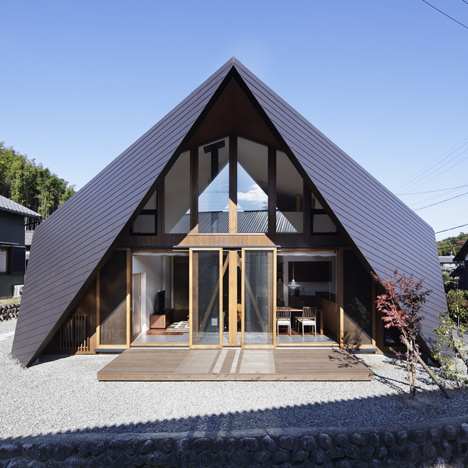 Origami House by TSC Architects features a roof modelled on folded paper