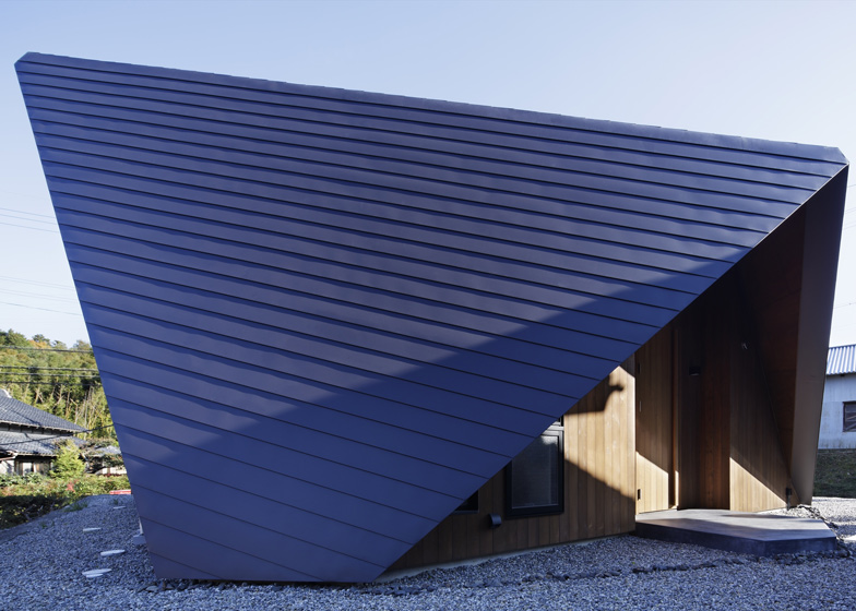 Origami House By Tsc Architects Has A Roof Modelled On Folded Paper