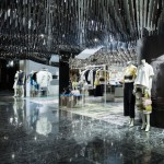 Schemata Architects adds needle-like pendants and mirrors to Phillip Lim pop-up shop