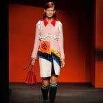 "Miuccia Prada's ""feminist"" fashion collection defies seasonal conventions"
