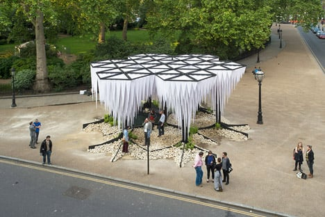 Gun Architects unveils Rainforest pavilion at London's Architectural Association