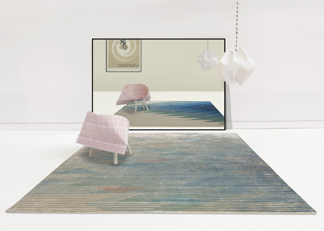 Raw Edges Lake rug collection for Golran