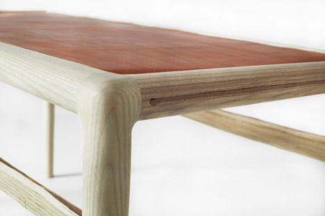 Sebastian Cox chestnut and ash furniture collection for Benchmark