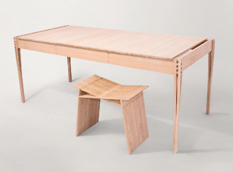 Shaker-influenced furniture collection by Torsten Sherwood