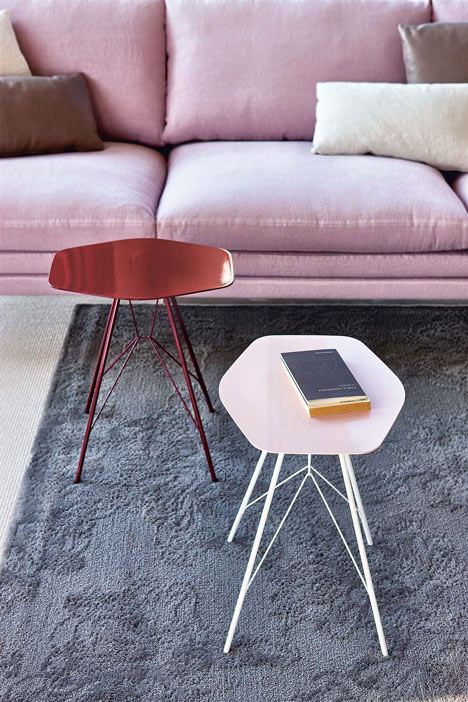 Side tables by Frank Rettenbacher for Zanotta