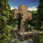 Dachi Papuashvili's cross-shaped micro home would be built from overlapping containers
