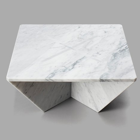 Joe Doucet designs flat-pack marble furniture for New York's Cooper-Hewitt museum