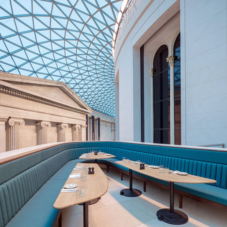 softroom designs a restaurant for the british museums great court - Blue Restaurant Design