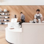 OpenScope Studio converts nail salon into San Francisco cafe with tiled front counter