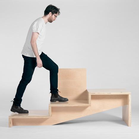 Steps bench by Geof Ramsey
