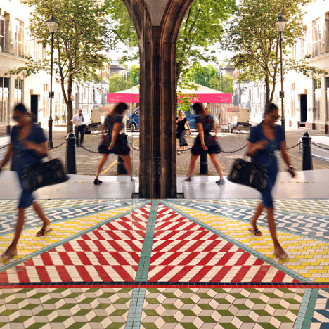Russ + Henshaw's Tile Mile brightens up Clerkenwell's historic arches