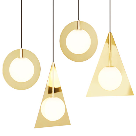 Tom Dixon Plane brass lamps