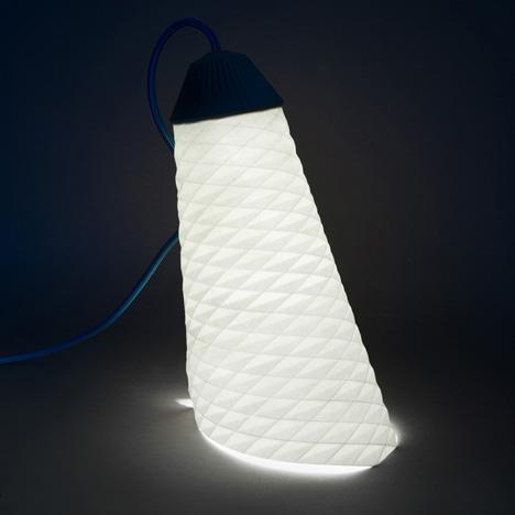 Topaze parchment lamp by Jean-Sebastien Lagrange