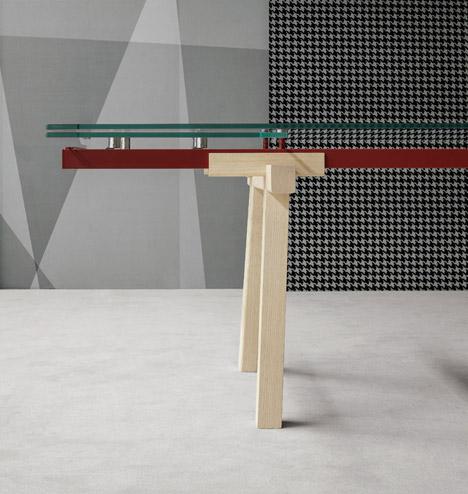 Tracks Extendable Table by Alain Gilles for Bonaldo
