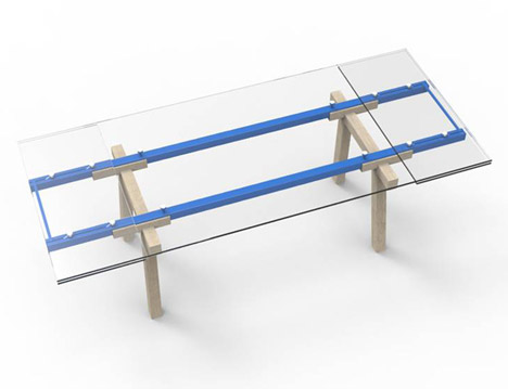 Tracks Extendable Table by Alain Gilles for Bonaldo