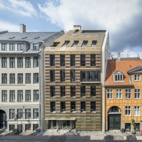 Trollbeads jewellery moves into a golden headquarters by BBP Arkitekter