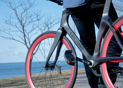 Valour carbon fibre bicycle by Vanhawks_dezeen_8
