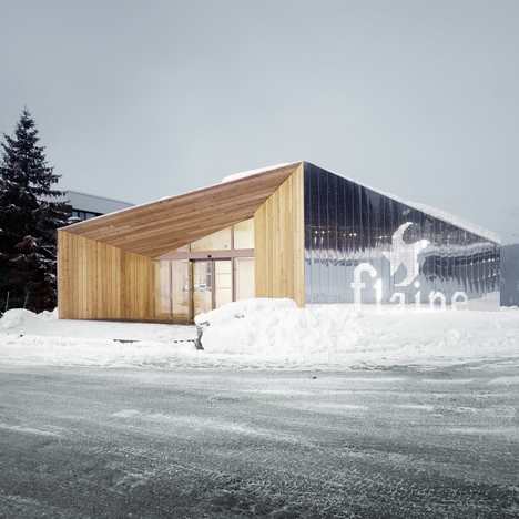 R-architecture adds mirror-clad visitor centre to Marcel Breuer's Flaine ski resort