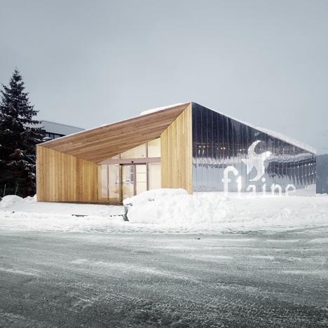 R-architecture adds mirror-clad visitor centre to Marcel Breuer's Flaine ski resort