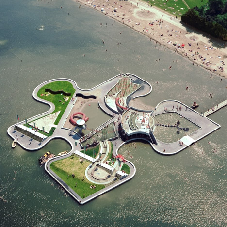 Water Play Island by Mariske Pemmelaar Groot in Utrecht, Netherlands. Photo by De Jong Luchtfotografie