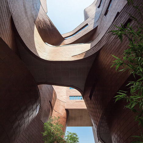 Aedas creates cavernous hollow inside<br /> Xi'an Jiaotong-Liverpool University building