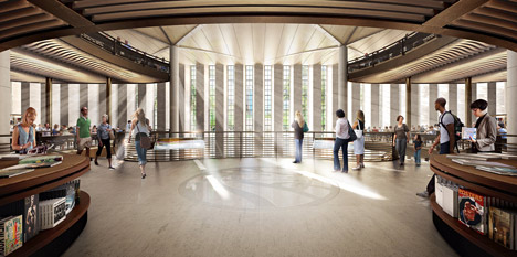 dezeen_New York Central Library by Foster Partners_2