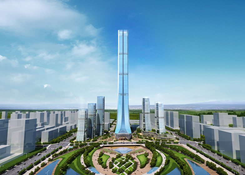 Terry Farrell designs Evergrande skyscraper for Jinan, China