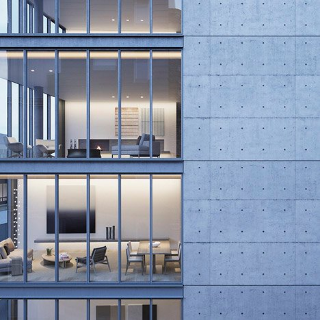 Tadao Ando reveals concrete and glass apartment block for Lower Manhattan