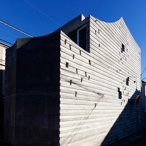 Sabaoarch build three-metre-wide concrete house in Tokyo