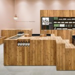 Torafu Architects uses Japanese cedar columns for fifth Aesop shop interior