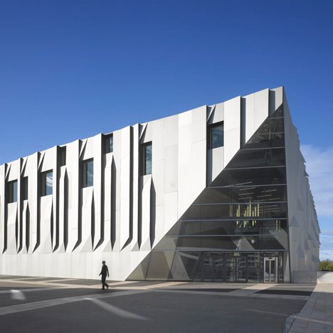 Kengo Kuma's Aix en Provence Conservatory of Music boasts pleated aluminium walls