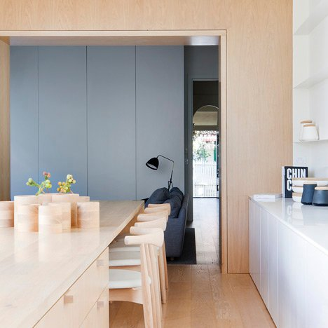 Studio Four uses pale oak to brighten up Alfred Street Residence in Melbourne
