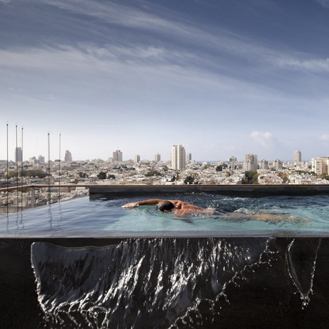Tel Aviv Penthouse by Pitsou Kedem features an infinity pool o