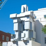Antony Gormley creates a giant metal  sculpture you can sleep in