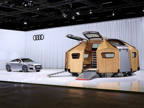 Audi at Design Miami Basel 2014 Konstantin Grcic designs the TT Pavilion