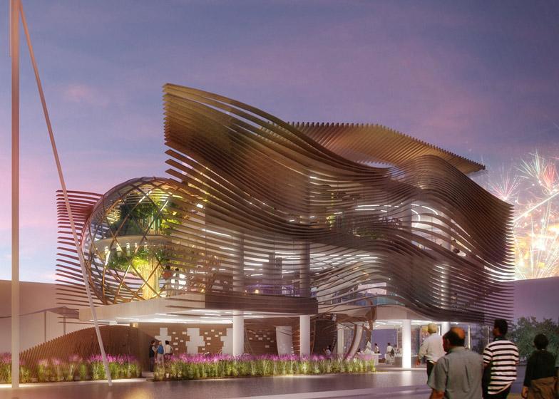 Azerbaijan's Milan Expo pavilion by Simmetrico Network, Arassociati and AG&P