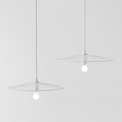 Basket lamp by Nendo for Kanaami-Tsuji