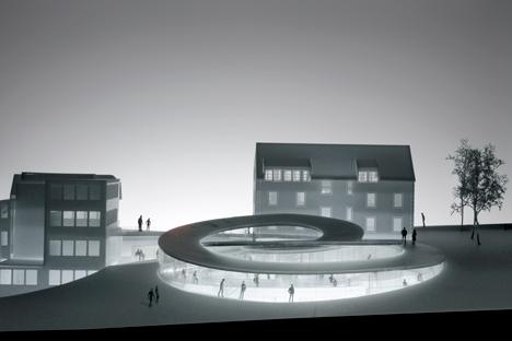 Bjarke Ingels unveils spiralling museum for Swiss watchmaker