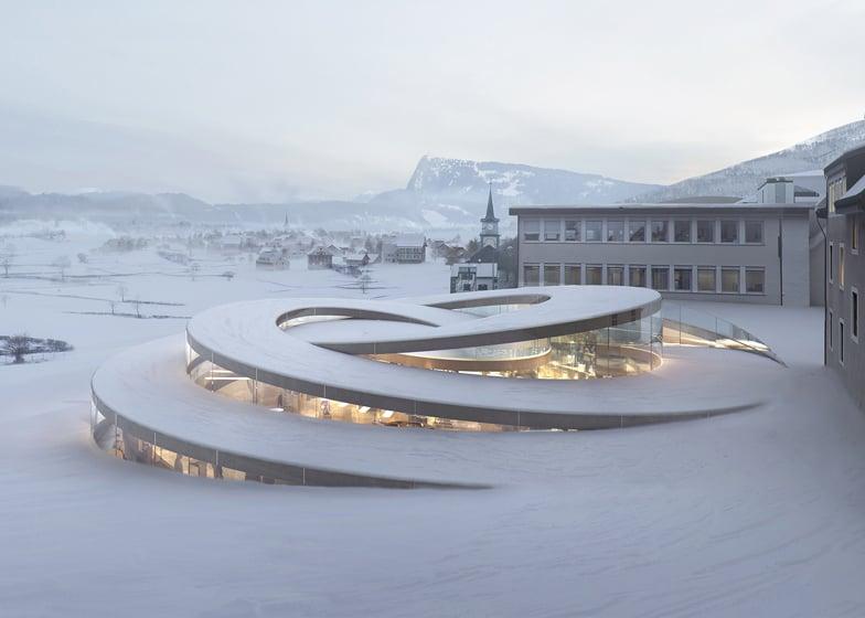 BIG unveils spiralling museum for Swiss watchmaker Audemars Piguet